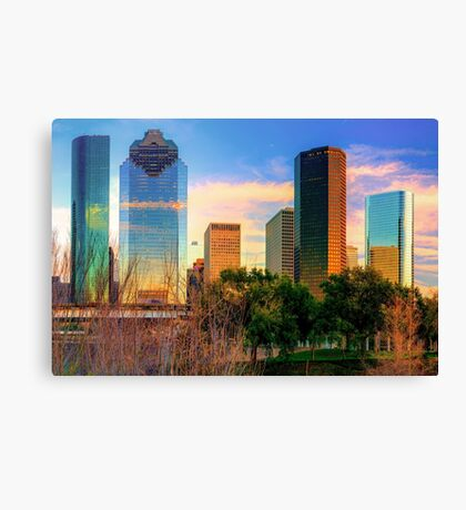 City of Houston Texas Skyline Canvas Print