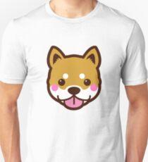 Shiba Inu Dog Breed Big Cute Face Cartoon Blush  Unisex T-Shirt