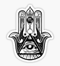 Fatima Hand All-Seeying Eye - Hamsa Sticker
