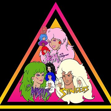 Jem and the Holograms + The Misfits meet The Stingers! by evobs