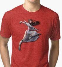 White Crane takes flight Tri-blend T-Shirt