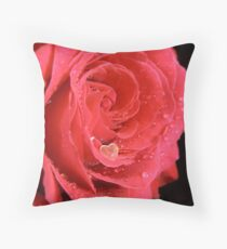 A Heart in a Rose Throw Pillow