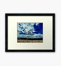 Clouds over the Plains Framed Print