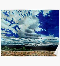 Clouds over the Plains Poster