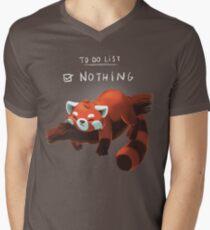 Red panda day Men's V-Neck T-Shirt