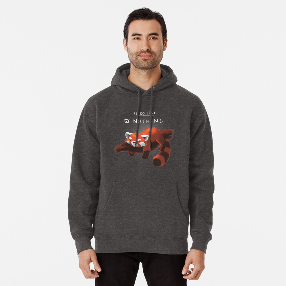Red panda day Pullover Hoodie