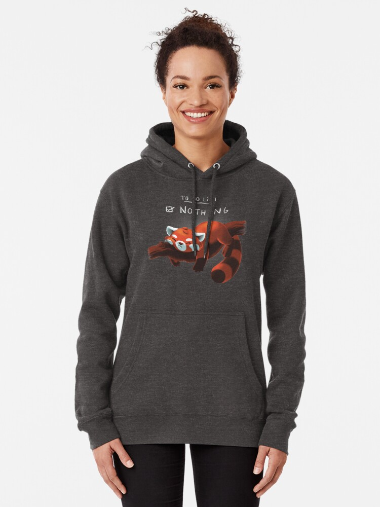 Alternate view of Red panda day Pullover Hoodie