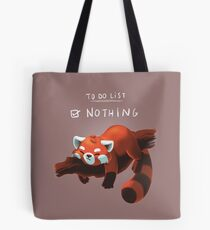 Red panda day Tote Bag