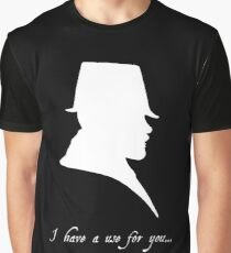 I have a Use For You - White Silhouette Graphic T-Shirt