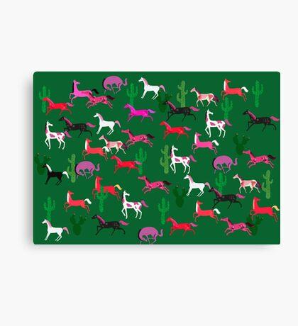 Wild Horses pattern Canvas Print