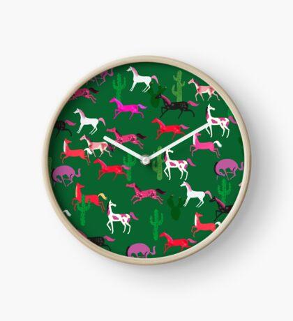 Wild Horses pattern Clock