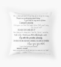 Famous Quotes - Gilmore Girls Throw Pillow