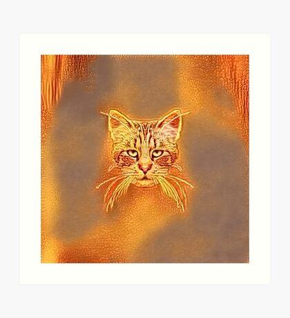 Golden Cat #Art Art Print