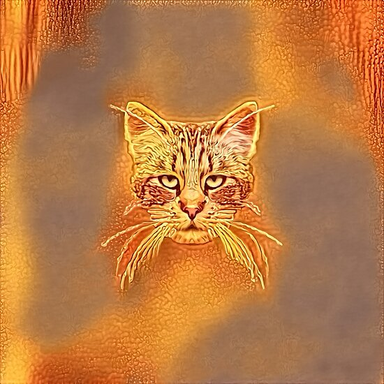 Golden Cat #Art