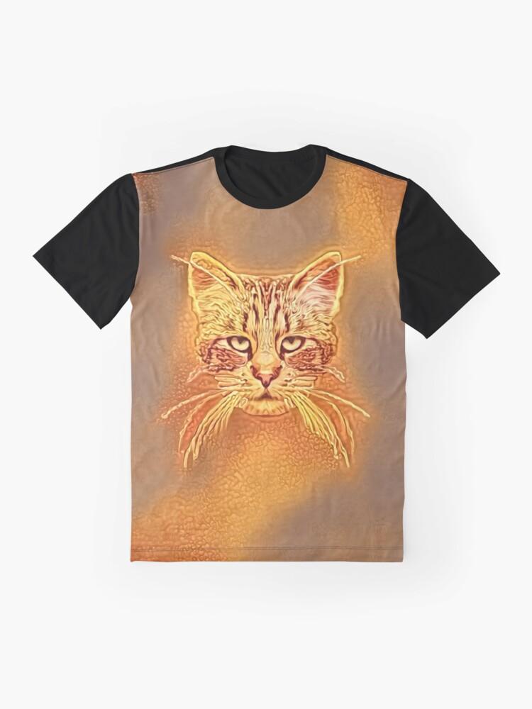 Alternate view of Golden Cat #Art Graphic T-Shirt