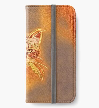 Golden Cat #Art iPhone Wallet