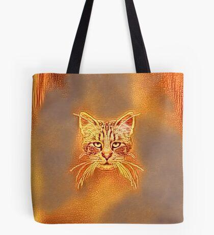 Golden Cat #Art Tote Bag