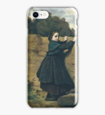 Camille Corot - The Curious Little Girl iPhone Case/Skin