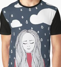 Happy girl in the rain Graphic T-Shirt