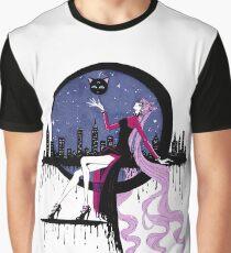Black Lady (Chibiusa) Black city Graphic T-Shirt