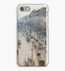 Camille Pissarro  - The Boulevard Montmartre On A Winter Morning iPhone Case/Skin