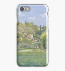 Camille Pissarro - A Cowherd At Valhermeil, Auvers-Sur-Oise, 1874 iPhone Case/Skin