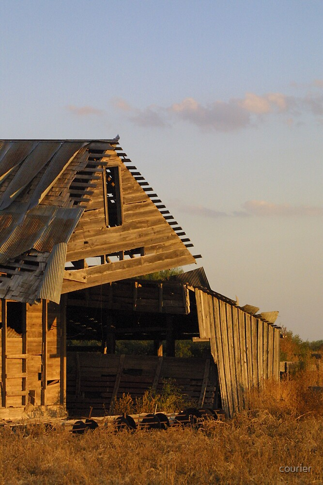 Barn in late afternoon sun by courier