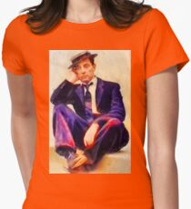 Buster Keaton, Vintage Hollywood Legend Womens Fitted T-Shirt