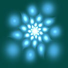 Blue flower abstract art by 4Flexiway