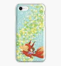 The Girl on The Fox iPhone Case/Skin