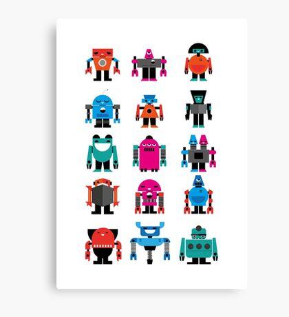 Robots fabric Canvas Print