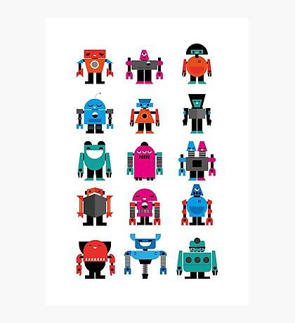 Robots fabric Photographic Print