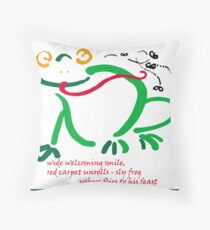 Invitation to a feast Throw Pillow