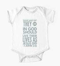 1 John 2:6 Typography Bible Verse Kids Clothes