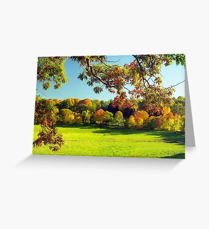 Autumn in Connecticut Meadow Greeting Card