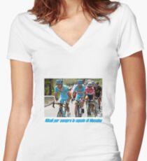 Nibali per semper lo squalo di Messina Women's Fitted V-Neck T-Shirt