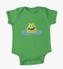 Mr. Green and the pool One Piece - Short Sleeve