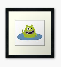 Mr. Green and the pool Framed Print