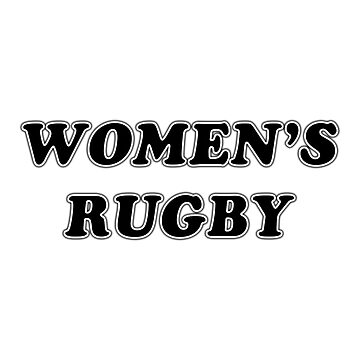 Retro - Women's Rugby by rugbygifts