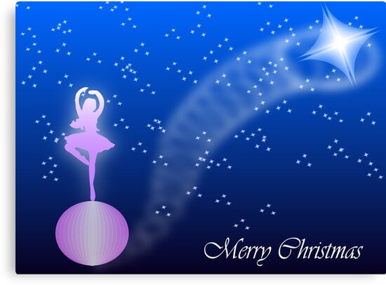 Ballerina Christmas card by 4Flexiway