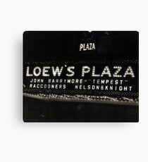 Nelson & Knight at Loew's Plaza Canvas Print