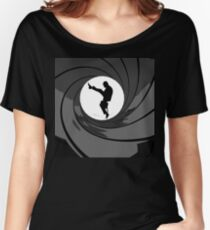 Monty Python Silly Walk 007 Mashup Women's Relaxed Fit T-Shirt