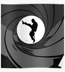 Monty Python Silly Walk 007 Mashup Poster