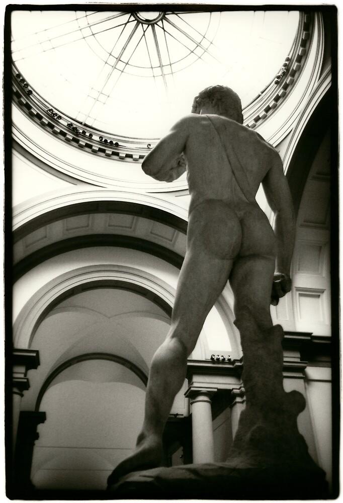 Michaelangelo's David, bum view by laurencedodd