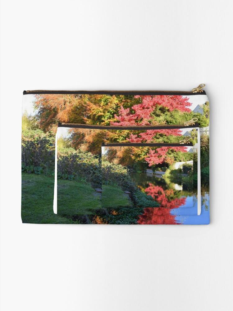 Alternate view of Autumn reflection Zipper Pouch
