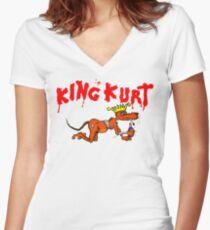 Rack & Ruin  Women's Fitted V-Neck T-Shirt