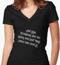 Barstool Women's Fitted V-Neck T-Shirt