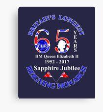 British Queen Elizabeth II Sapphire Jubilee Keepsakes Canvas Print