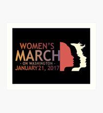 Womens March On Washington Art Print