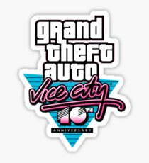 Vice City 10th Anniversary Sticker